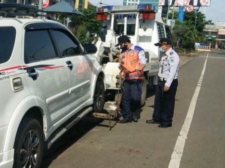 2.354 Kendaraan Parkir Liar di Jakut Diderek Selama 2020
