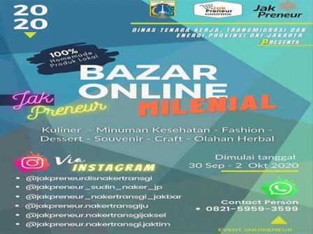Dinas Nakertrans dan Energi DKI Gelar Bazar Online Milenial