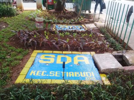Pembuatan Delapan Sumur Resapan di Setiabudi Rampung