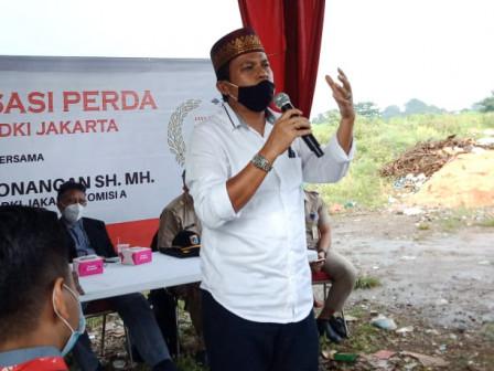 August Hamonangan Sosialisasikan Perda Tentang Rencana Detail Tata Ruang