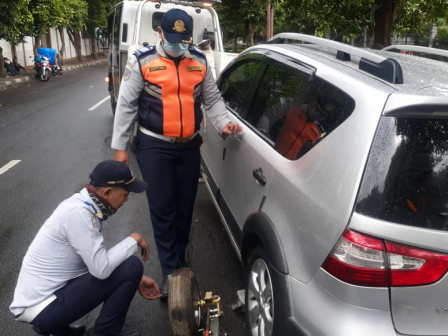 Illegal Parking, 23 Vehicles in South Jakarta Netted