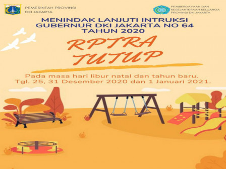 New Year Holiday, RPTRAs in West Jakarta are Closed