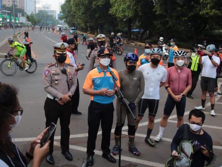 Dishub DKI Jakarta Terapkan Uji Coba Road Bike di Ruas Jalan Jenderal Sudirman-MH Thamrin