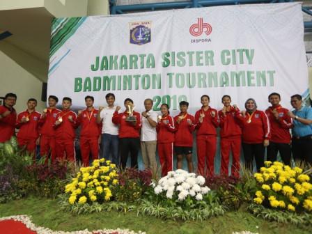 DKI Torehkan Prestasi di Jakarta Sister City Badminton Tournament 2019