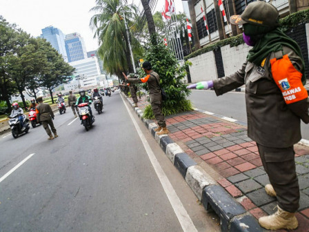 324 People in Central Jakarta Netted for Not Wearing Masks