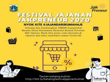 Disparekraf DKI Gelar Festival Jajanan Jakpreneur Secara Online