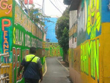 Rawajati Residents Beautify the Environment with Murals