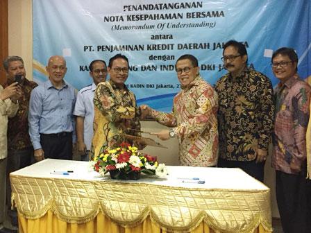 PT. Jamkrida Jakarta Signed MoU with Jakarta Kadin