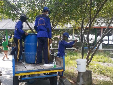 Sambut Akhir Pekan, 27 Titik Sarana Cuci Tangan di Pulau Untung Jawa Disuplai Air Bersih
