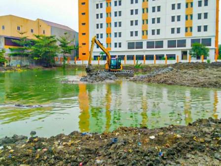 Process of Tegal Alur Retention Basin Construction Reaches 70 Percent