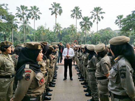 60 Satpol PP Personnel Alerted Along Jalan Sudirman-MH Thamrin