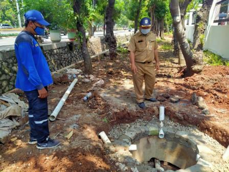Five Infiltration Wells Construction on Jl. Pramuka Reaches 90 Percent