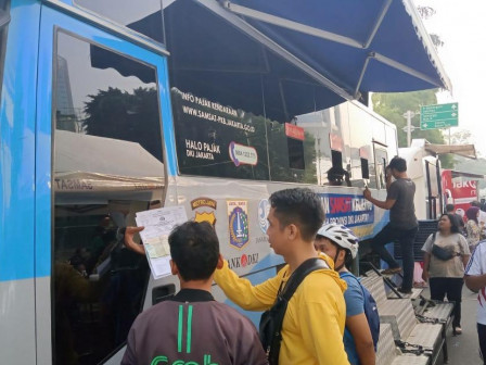 128 Taxpayers Served in Mobile Samsat Services During Car Free Day