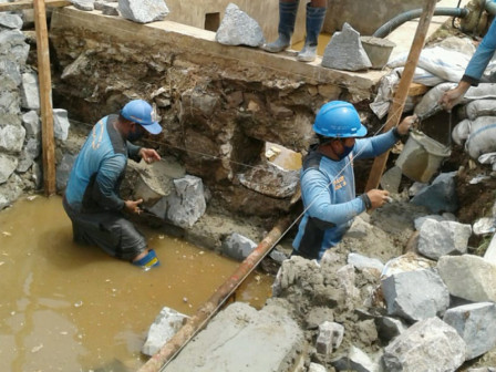 Stilling Basin Construction on Jl. Pangeran Tubagus Angke Reaches 70 Percent