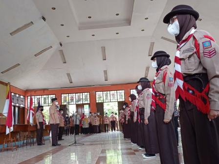 Walikota Melantik 57 Pramuka Garuda Kwarcab Gerakan Pramuka Jakarta Utara