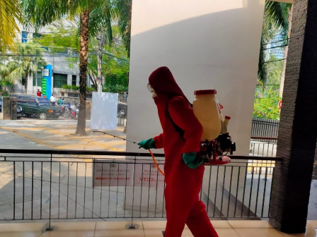 4 Mosques in Menteng Dalam Sprayed with Disinfectant