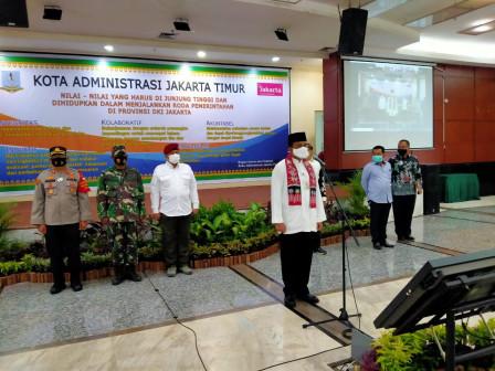 Wali kota Jaktim Kukuhkan 531 Anggota FKDM Kelurahan/Kecamatan