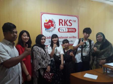 Pelajar Asal Jepang Studi Banding Ke Kepulauan Seribu