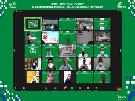 Grand Launching Program Close Loop, Pemprov DKI Jakarta Hadirkan Bahan Baku Murah Bagi Anggota Jakpr