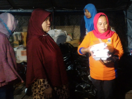 Logistic Aid Distributed to Fire Victims of Jl. Kampung Gusti