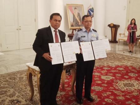 Jakarta and Headquarter of TNI AU Sign Land Use Cooperation Agreement