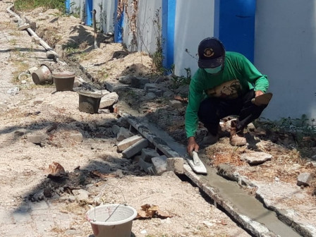 Streets and Sidewalks on Tidung Island Repaired