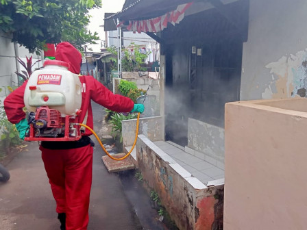 Gulkarmat has Carried Out Disinfectant Spraying in 11,117 Locations in East Jakarta