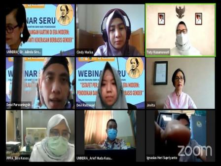 Dinas PPAPP - Unindra Gelar Webinar Estafet Perjuangan Kartini di Era Modern