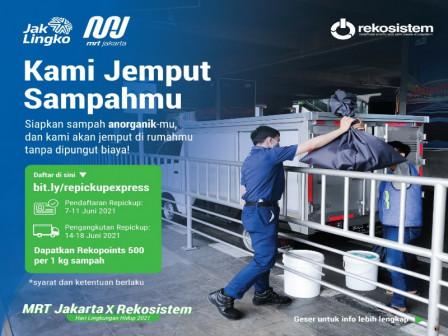 MRT Jakarta Adakan Program Jemput Sampah Gratis