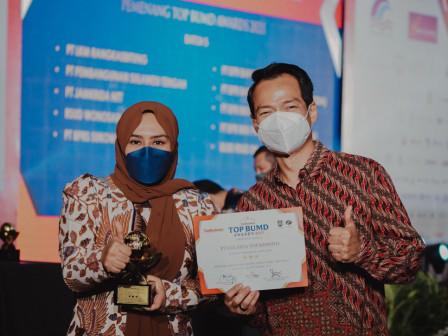 Makin Berprestasi, JXB Diganjar Tiga Bintang di TOP BUMD Awards 2021