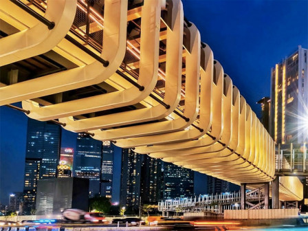 New Pedestrian Bridges in Sudirman Expected to Be Jakarta's New Icon