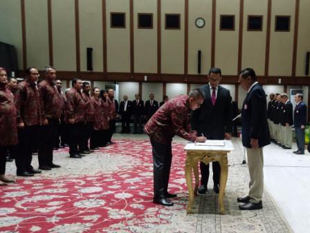 Gubernur DKI Hadiri Pelantikan Pengurus PBVSI