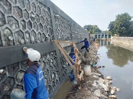 Repair on Betik River's Retaining Wall Completed