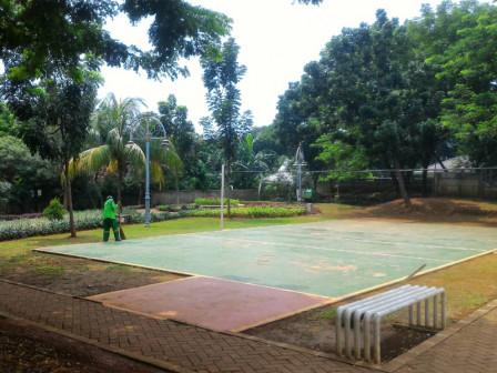 Hijau dan Asri, RTH Swadarma Sarana Warga Pesanggarahan Berolahraga