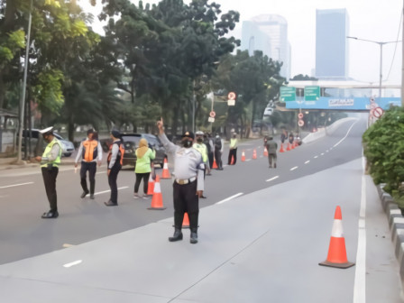 Dishub Kembali Uji Coba Lintasan Road Bike JLNT Tanah Abang - Kampung Melayu Besok