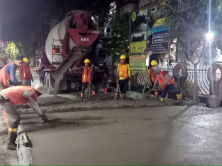 Until December, Bina Marga Targeted to Concrete 107 Collector Roads in North Jakarta