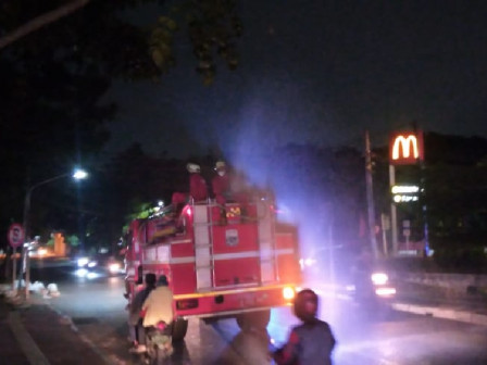 Number of Main Roads and Collector Roads in East Jakarta Sprayed with Disinfectant