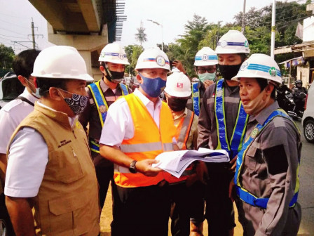 Bina Marga Head Monitors Two Flyovers Construction in South Jakarta