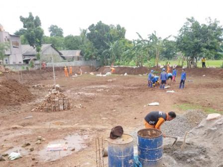 Pembangunan Waduk Mini di Ceger Capai 80 Persen