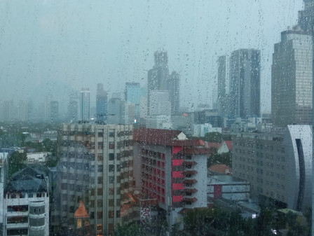 Rain in Jakarta From Morning and Cloudy at Night