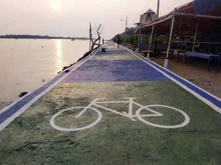 Trek Sepeda Sepanjang Tiga Kilometer Dibangun di Pulau Untung Jawa