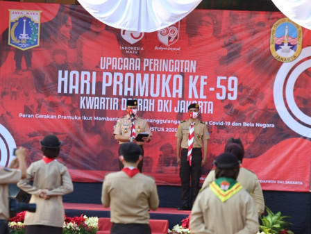 Commemorating Scouts' 59th Anniversary, Anies Expects Jakarta Scouts to Assist People in Facing the Pandemic