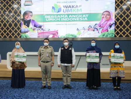 Peluncuran Program Wakaf Modal UMI ACT, Wagub Ariza Berharap UMKM Berkembang di Tengah Pandemi