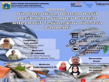 Sudin KPKP Jaktim Gelar Webinar Pemindangan Ikan