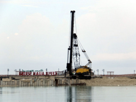 Pier Construction on The Eastern Side of Pramuka Island Reaches 75 Percent