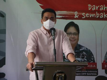 Wagub Ariza Apresiasi Donor Darah dan Bakti Sosial BAPERA DKI Jakarta