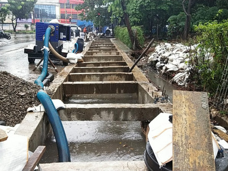 West Jakarta SDA Completes Stilling Basin Construction in Kedoya Utara
