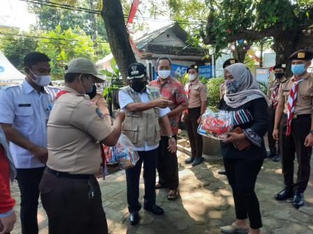 Bupati Hadiri Kegiatan Karya Bhakti Pramuka Kwarcab Kepulauan Seribu di Pulau Tidung
