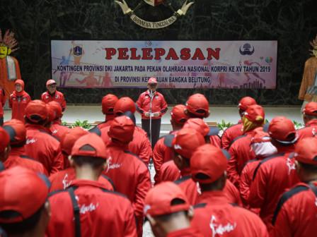 Sekda Lepas 187 Kontingan DKI Bertanding di PON Korpri