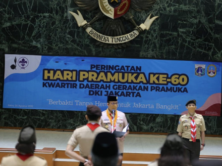 Peringati Hari Pramuka ke-60, Gubernur Anies Berharap Kwarda DKI Jakarta Jaga Tradisi Patriotisme